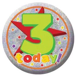 Badge Sml HoloG Happy 3rd BD