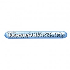 Happy Birthday Banner Latex Balloons