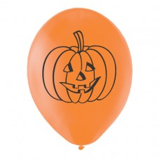 Pumpkin Latex Balloons pk6 27.5cm