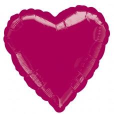 18H:BURGUNDY HEART