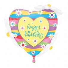 S/SHAPE:HAPPY BD DAISIES-OUTDR