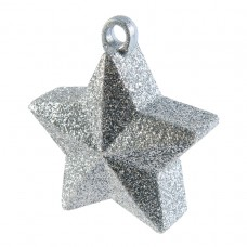Silver Glitter Star Balloon Weight