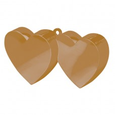 Gold Double Heart Balloon Weight