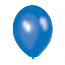 Metallic Blue Latex Balloons pk8
