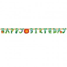Jungle Animals Illustrated Letter Banner