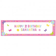 Hugs & Stitches Girl Personalised Giant Banner
