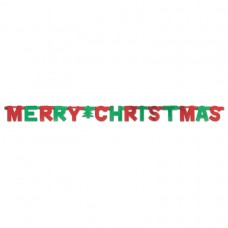 BANNER LTR:MERRY XMAS red/grn