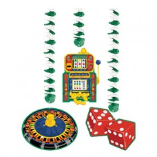 Casino Party Pack of Dangling Cutouts