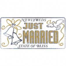 Just Married Car Licence Plate Cutout