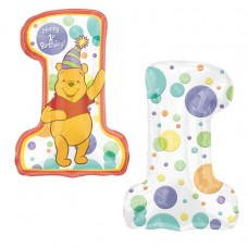 S/SHAPE:POOH 1ST BIRTHDAY