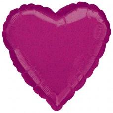 18H:FUCHSIA DAZZLER HEART