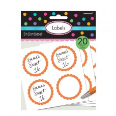 LABELS SCALLOPED ORANGE PEEL