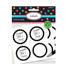 LABELS SCALLOPED BLACK