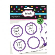 LABELS SCALLOPED NEW PURPLE