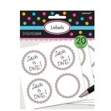 LABELS SCALLOPED SILVER