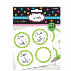 LABELS SCALLOPED KIWI