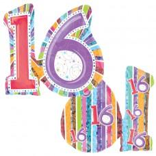 Radiant Birthday 16 Supershape Foil Balloon