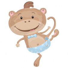 S/SHAPE:MONKEY-BABY BOY