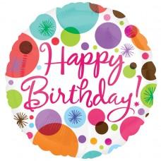 18IC:HAPPY BIRTHDAY POLKA DOTS