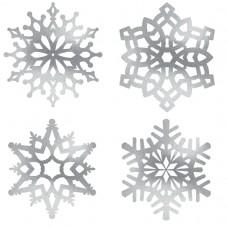 CUTOUT:SILVER SNOWFLAKE ASST