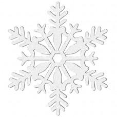 DEC 10cm glitter:SNOWFLAKE wht