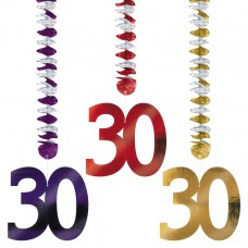 30th Foil Dangling Cutouts