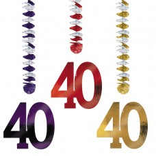 40th Foil Dangling Cutouts