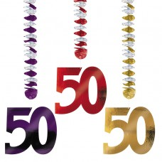 50th Foil Dangling Cutouts