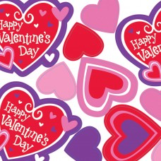 Printed Valentine Heart Cutouts Value Pack