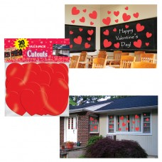 Valentine Heart Cutouts pack of 30