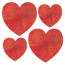 Mini Glitter Heart Cutotus Assortment