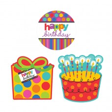 Dots & Stripes Birthday Cutouts