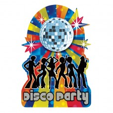 70's Disco Cutout with Disco Ball