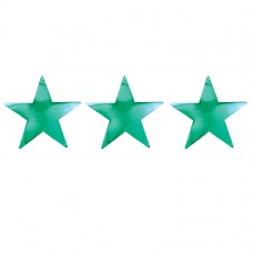 Green Foil Star Cutouts 30cm