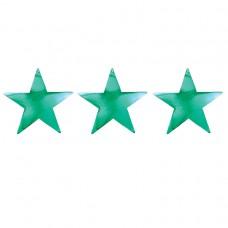 Green Foil Star Cutouts 38cm
