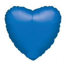 Metallic Blue Heart Foil Balloon