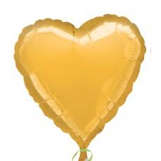 Metallic Gold Heart Foil Balloon