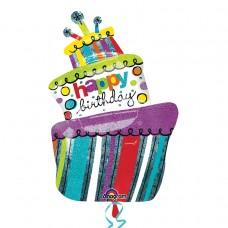 S/SHAPE:FUNKY BIRTHDAY CAKE