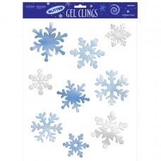 GEL CLINGS lrg:SNOWFLAKE