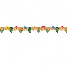Hawaiian Themed Hibiscus & Leaves Garland