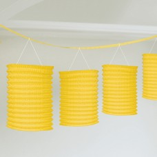 LANTERN PPR GARLAND YELLOW
