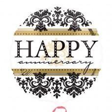 18IC:HAPPY ANNIVERSARY DAMASK