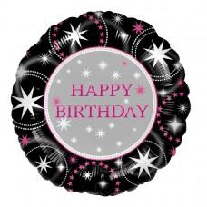 Happy Birthday Sparkle Foil Balloon