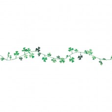 Green Tinsel Garland with Shamrocks