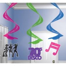 Disco Super Swirl Decorations