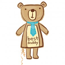 S/SHAPE:BEST DADDY BEAR