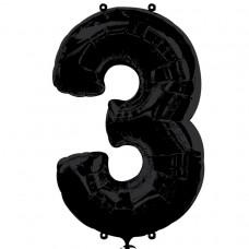 S/SHAPE:NUMBER 3 black