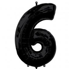 S/SHAPE:NUMBER 6 black