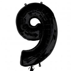 S/SHAPE:NUMBER 9 black
