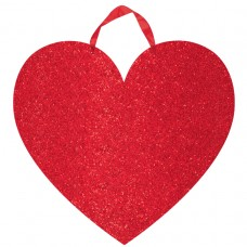 SIGN RED HEART GLITTER